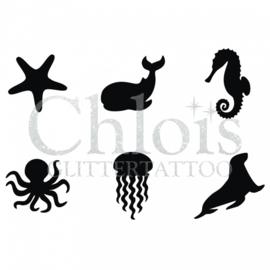 Chloïs sea life (multi stencil 6)