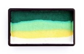 PXP 28 gram splitcake white | yellow | lime | dark green