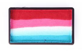 PXP 28 gram splitcake dark red | pink | white | turquoise