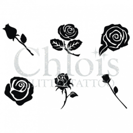 Chloïs roses (multi stencil 6)