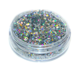 Glitter flakes silver