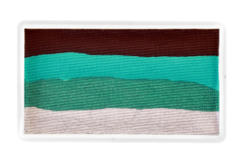 PXP 28 gram splitcake dark brown | sea green | metallic green | metallic silver