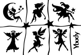 Sjabloon multi stencil fairies