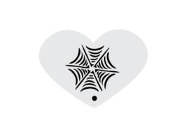 Mini stencil halloween web