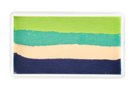 PXP 28 gram splitcake lime green | sea green | beige | dark blue