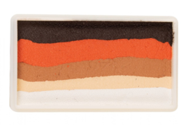 PXP 28 gram splitcake ebony - orange - light brown - light beige - white