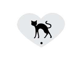 Mini stencil halloween cat