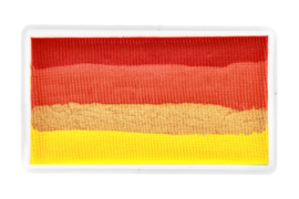 PXP 28 gram splitcake red | orange | metallic gold | yellow