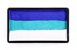 PXP 28 gram splitcake blue | pastel green | white