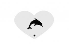 Mini stencil dolfijn