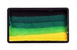 PXP 28 gram splitcake black | dark green | green | light green | yellow
