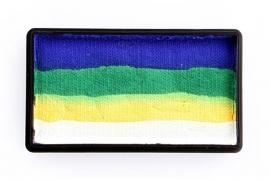 PXP 28 gram splitcake dark blue | green | yellow | white
