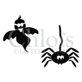 Sjabloon spooky met spin duo (5 stuks)