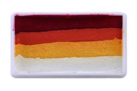PXP 28 gram splitcake block red | orange | yellow | white