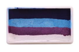 PXP 28 gram splitcake royal blue | light blue | purple | white