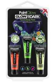 Blister set glow in the dark face & body paint