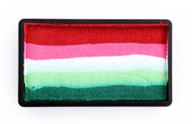 PXP 28 gram splitcake red | pink | white | lime | green