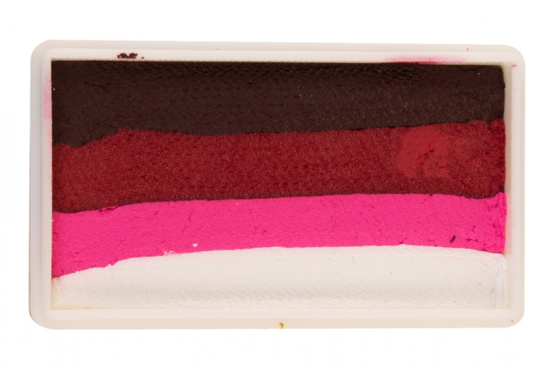 PXP 28 gram splitcake dark red - ruby red - neon red -white
