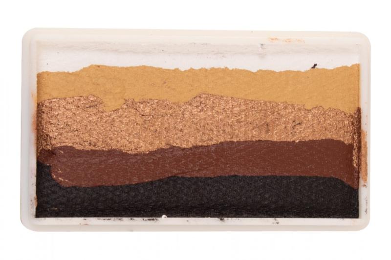 PXP 28 gram splitcake  white - gold - copper - brown -black