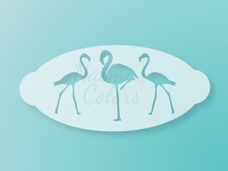 N4C sjabloon Flamingos
