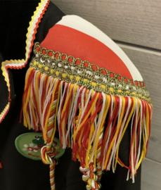Epauletten luxe  rood wit geel band en Oeteldonk franje
