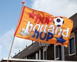 Gevelvlag oranje voetbal Hup Holland Hup