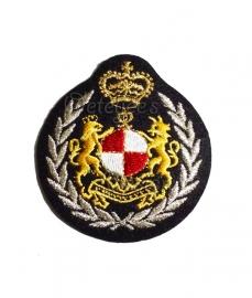 Geborduurd embleem leeuwen met kroon Brabant