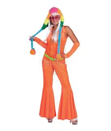 Jumpsuite volwassen fluor oranje