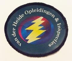 Borduren badge Van der Heide opleiding en training