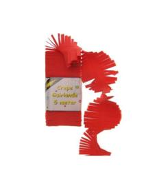 Crepepapier (guirlande) rood (5 m)