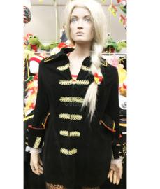 Uniformjas zwart lang goud maat 36/38