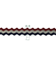 Galon zigzag Holland rood wit blauw 10mm