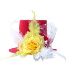 Oeteldonks mini hoedje rood wit geel
