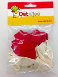 Brabant ballon ( 5 rood / 5 wit)