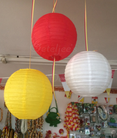 Oeteldonkse lampionnen rood wit geel