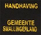 Borduren badge Handhaving gemeente Smallingerland