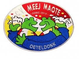 Emblemen borduren voor carnavalsvereniging C.V.Meej Maote