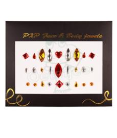 Oeteldonkse body jewels rood wit geel model A