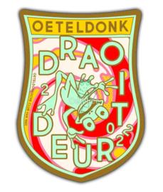 """Embleem Oeteldonksche Club 2022 """"Oeteldonk draoit deur """" groot"""