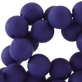 Acryl kralen mat rond 8 mm Twilight blue