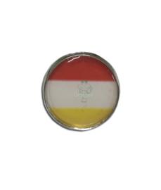 Pin / Broche Oeteldonk rood wit geel