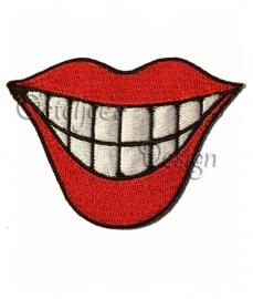 Opstrijkbare applicatie mond met tanden