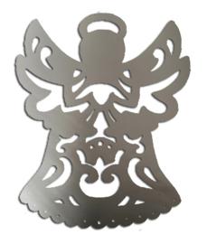 """Raam / muur sticker """"engel """" zilver A3"""