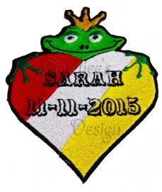 Borduren Oeteldonks Sarah embleem