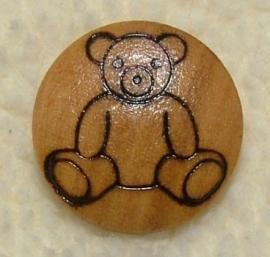 Kinderknopen - Houten knoop beer 14 mm
