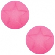 Polaris cabochon ster matt 12 mm Rose pink