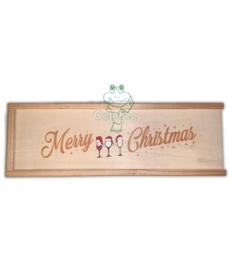 Oeteldonks kerst wijnkistje bedrukt (1 fles)