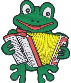 Embleem Oeteldonk kikker met accordeon