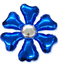 Folie ballon bloem blauw