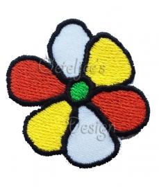 Geborduurd Oeteldonks bloemetje